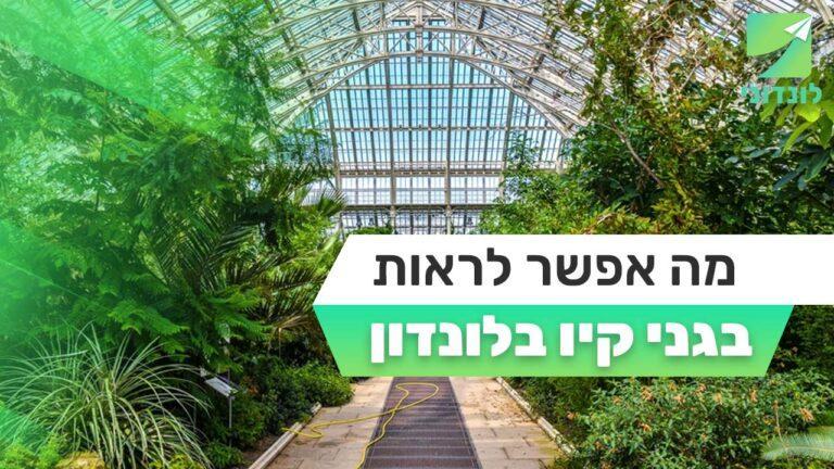 מה אפשר לראות בגני קיו בלונדון   Kew Gardens